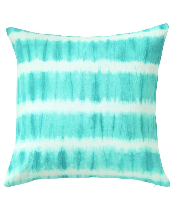 Spring is all about bright colours. This cushion brings a splash of ocean shades which are tie dyed on the slub fabric. www.theindianpick.com