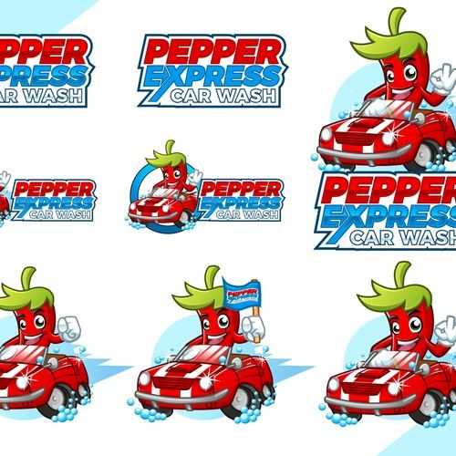 Pepper Express Car Wash - New express car wash needs logo Express car wash offers a full conveyor wash, drying, and unlimited vacuum is included....