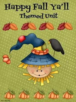 Looking for a fun fall unit that will keep your kiddos engaged?  My Happy Fall Ya'll Unit includes lessons and/or activities in all core subject areas: English, Reading, Math, Science, and Social Studies.  What's included:ELA~  Acorn Contractions recording page, Answer Document, and 12 Acorn Contraction Cut-Outs to use as a mini-lesson or a center, and AUTUMN Acrostic Poem (5 Pages)MATH ~  +/- Fact Families Worksheet and Answer Document (2 pages)READING ~The Scarecrow's Hat Lesson Plan…