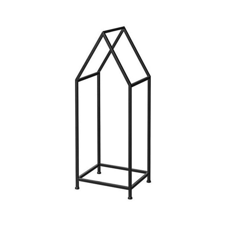 BLOOMINGVILLE Firewood Rack House-Shaped Black