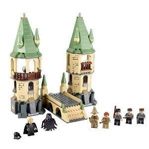 LEGO Harry Potter Hogwarts 4867 (673419149624) Includes Harry Potter, Neville Longbottom, Professor Sprout, Professor Lupin, Gregory Goyle, Death Eater, Dementor minifigures Hogwarts castle features the Caves, Room of Requirement, Lupin's Office, Astronomy Tower, Magical Mirror Room with The Mirror of Erised and Divination Room Exploding bridge Protect Hogwarts against Lord Voldemort?s evil followers! 466 Pieces