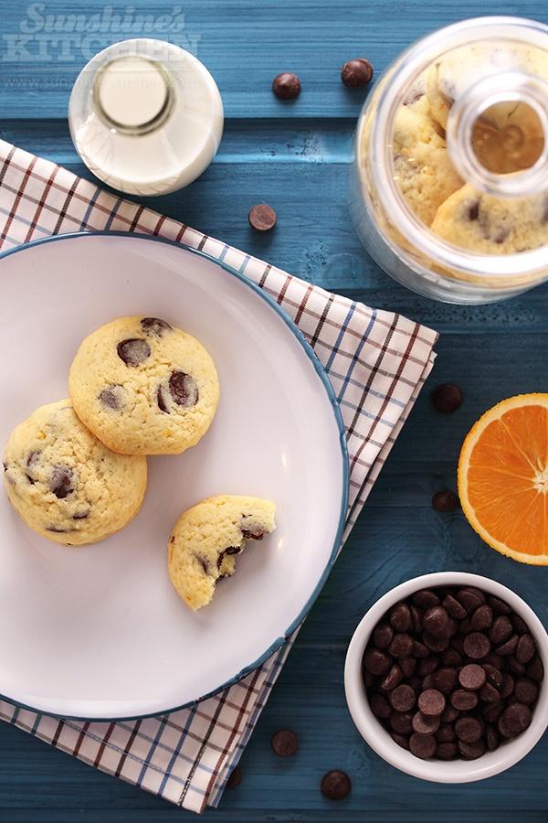Orange chocolate chip cookies    http://sunshineskitchen.com/orange-chocolate-chip-cookies/