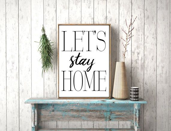 Instant Download Let's stay Home Let's Stay Home by photoplasticon