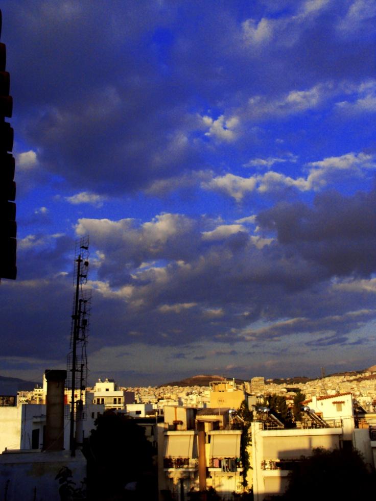 Cloudy sky..