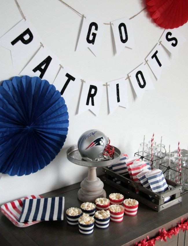 football party decorations -- free printable banner