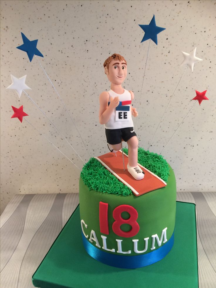 Running Athlete/figure Birthday Cake.