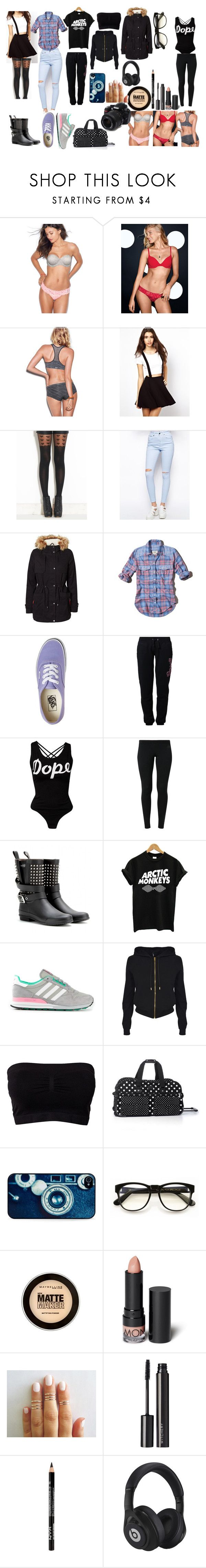 """""""Untitled #49"""" by antoniadouzi ❤ liked on Polyvore featuring Victoria's Secret PINK, ASOS, Pamela Mann, The Ragged Priest, Vero Moda, Abercrombie & Fitch, Vans, Russell Athletic, NIKE and Burberry"""