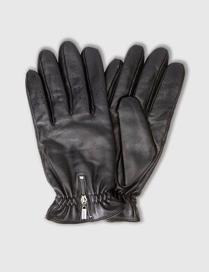 REISSVERSCHLUSS, LEDER HANDSCHUHE, Black