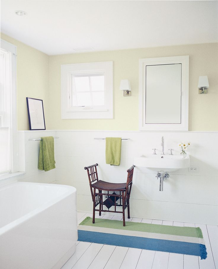 """our favorite bathroom paint color ideas on domino.com  """"French canvas"""" by Benjamin Moore"""