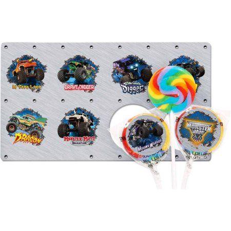 Monster Jam 3D Lollipop Favor Kit, Multicolor