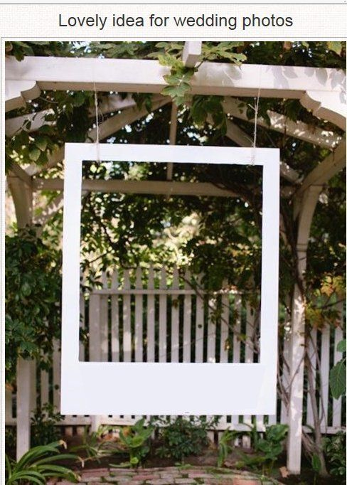Great Idea for a Wedding or Family Reunion