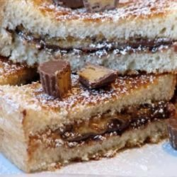 Peanut Butter Cup Grilled Sandwich Allrecipes.com | Yummy
