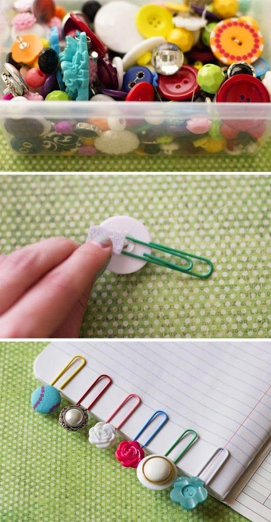 Como decorar clips usando botões | Artesanato na Prática