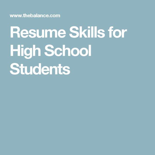 Oltre 20 migliori idee su High school resume su Pinterest Scuola - making a resume for high school students