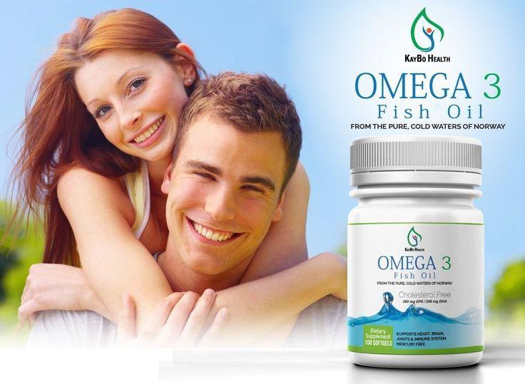 Omega 3 1000mg Fish Oil Softgels Mercury & Toxin FREE #KayboHealth