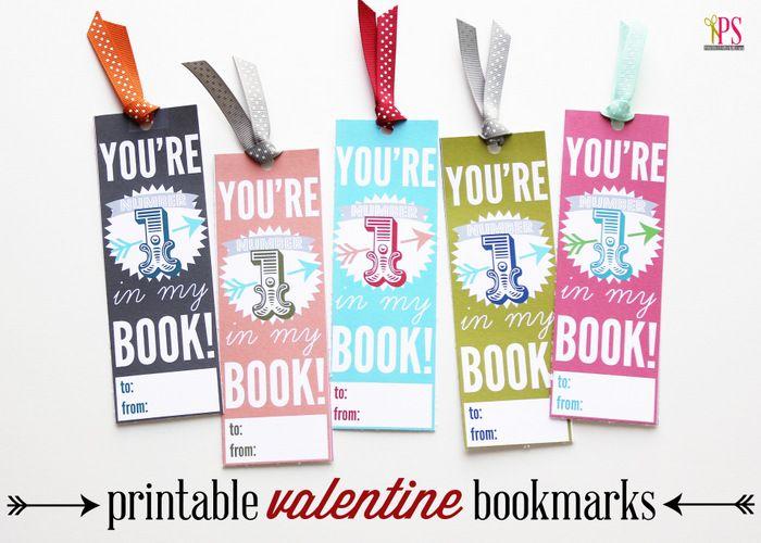 Printable Valentine Bookmarks www.PositivelySplendid.com