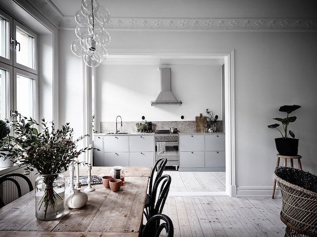 A serene Swedish home in soft tones
