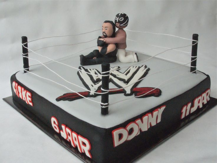 Wrestling Special Request For A Wrestling Cake With Rey