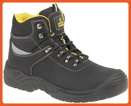 Hombre Powertrain Sport Internal Met Guard Alloy Toe Zapato de trabajo y construcci¨®n, Black Synthetic, 10 M US