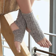 Носки для йоги, связанные «резинкой»