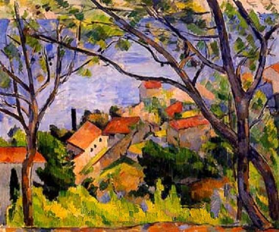 Paul Cézanne (1839-1906)  Really like Cezanne's trees