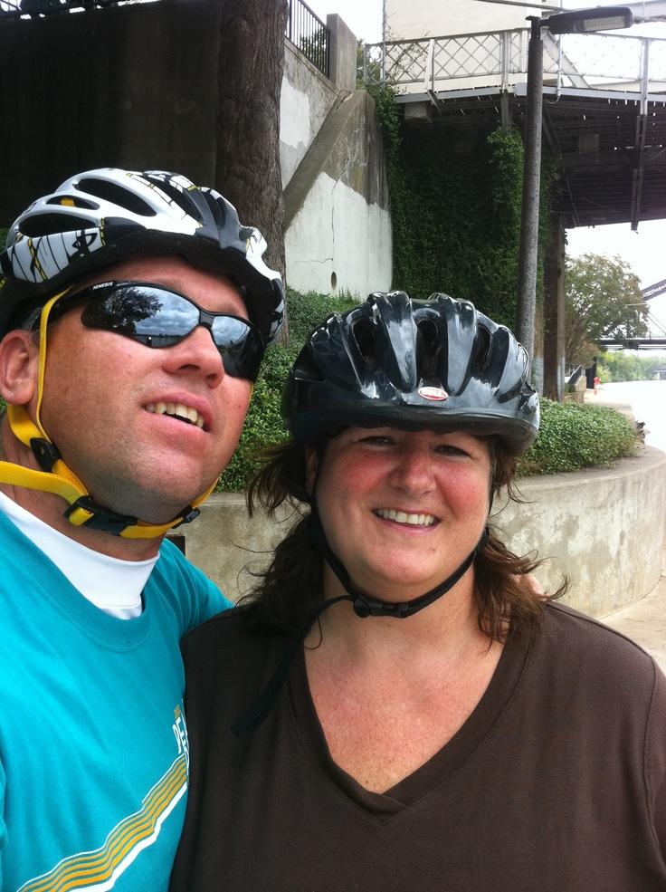 Dana and I riding in Cameron Park