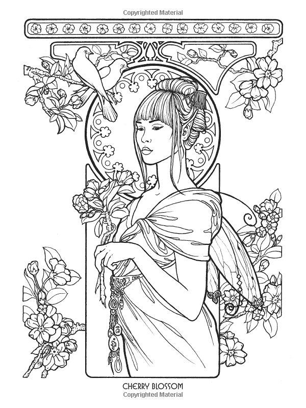 Floral Fairies Coloring Book (Dover Coloring Books): Carol Craig: 0800759783274…