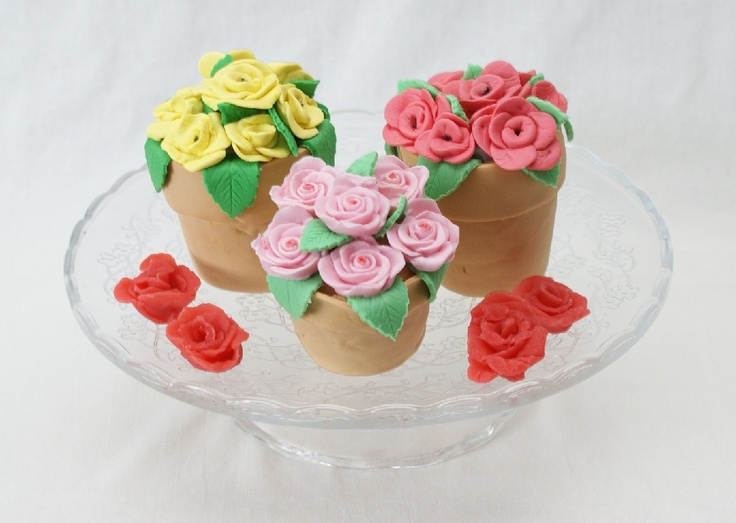 Zoete bloempotjes: 2 kleine taartjes in de vorm van bloempotjes. De workshop wordt gegeven in Theeschenkerij The Wisple en duurt ongeveer 2 1/2 uur. Zie www.thewisple.nl.