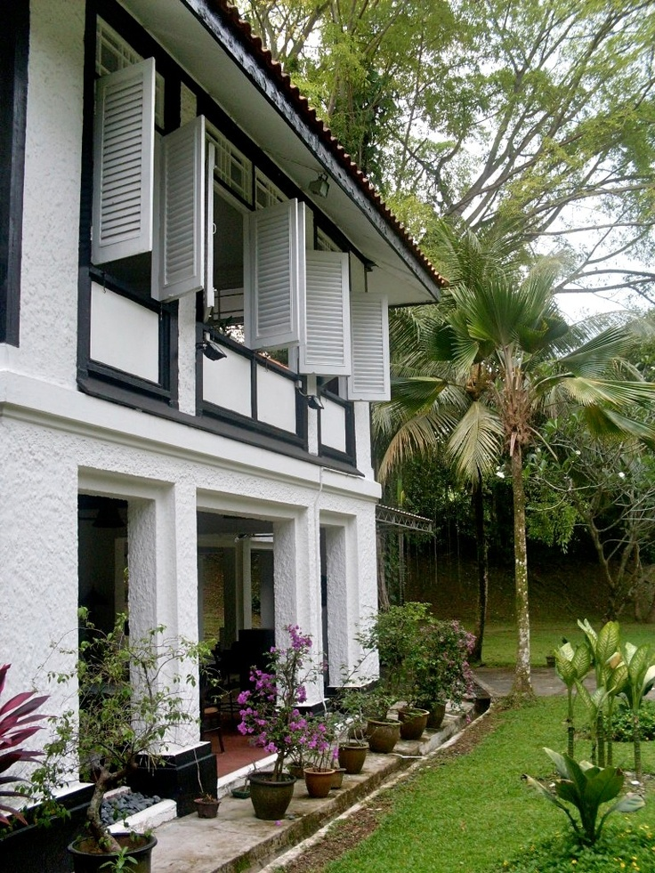 Black and White Colonial House Singapore