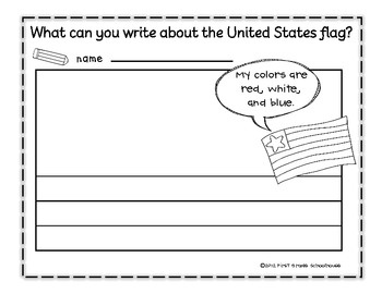 flag day worksheets for kindergarten