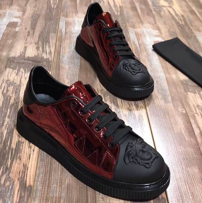 3ddd421910 Versace Medusa Leather Nyx Sneakers | Versace Mens Shoes in 2019 ...
