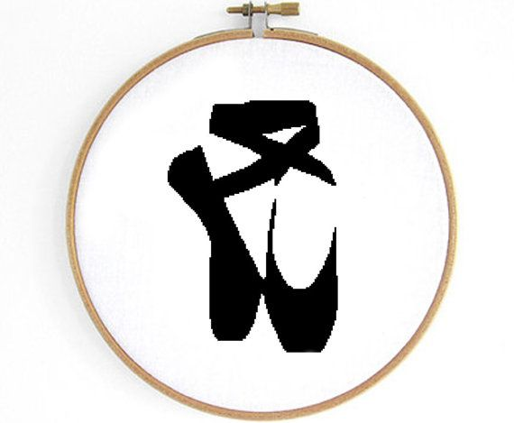 Ballet Shoe Cross Stitch Pattern by Crosslings on Etsy