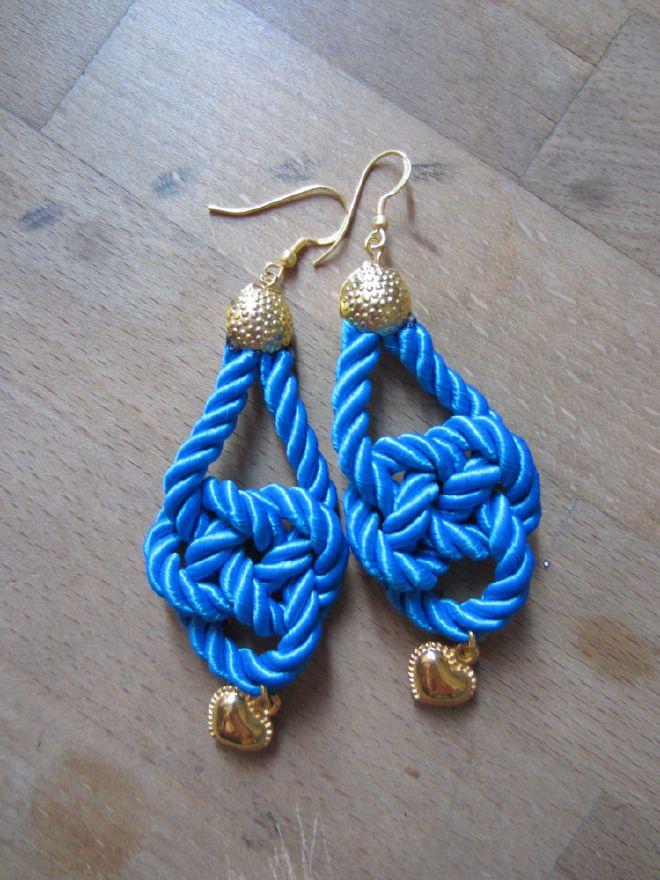 Orecchini in passamaneria #Blue #azul