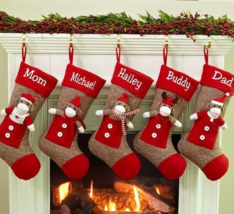 Calcetines navideños para decorar http://icono-interiorismo.blogspot.com.es/2015/12/calcetines-navidenos-para-decorar.html