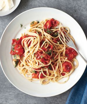 This is my all time favorite recipe. Take about 1/2 the olive oil. Spaghetti With Roasted Tomatoes and Herbs