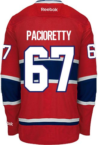 Montreal Canadiens Max PACIORETTY #67 *A* Official Home Reebok Premier Replica NHL Hockey Jersey (HAND SEWN CUSTOMIZATION)