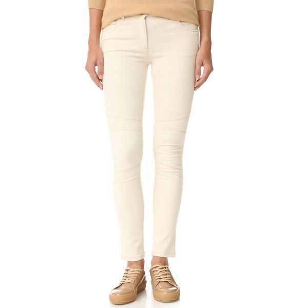 Belstaff Byrds Jeans ($375) ❤ liked on Polyvore featuring jeans, denim skinny jeans, pink skinny jeans, belstaff, skinny jeans and skinny fit jeans