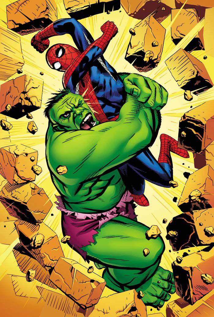 Spidey vs Hulk - Michael Golden
