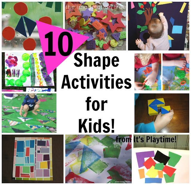 Here are some great ways to learn about shapes with young children which are all are easy to set up and offer plenty of scope for creativity! Learning maths skills through play and art is the best possible way! From The Imagination Tree.
