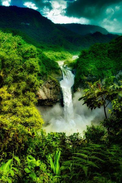 ~ Waterfall in the Amazon Jungle ~