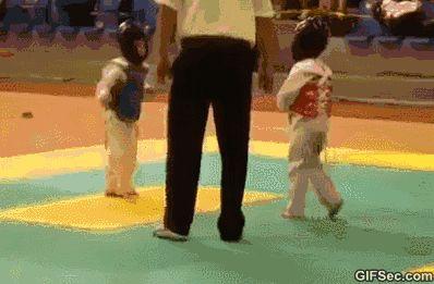 GIF Karate kids