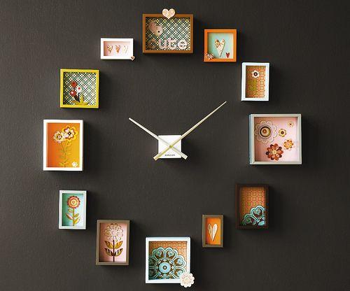 Reloj con marcos / clock with frames