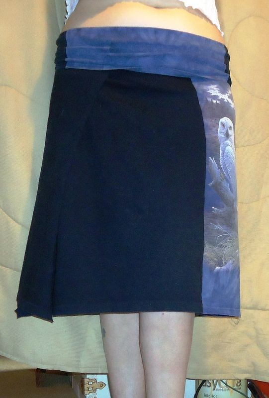 How to recycle a t-shirt skirt. 2 T Shirt Skirt, Yoga Style Band - Step 7