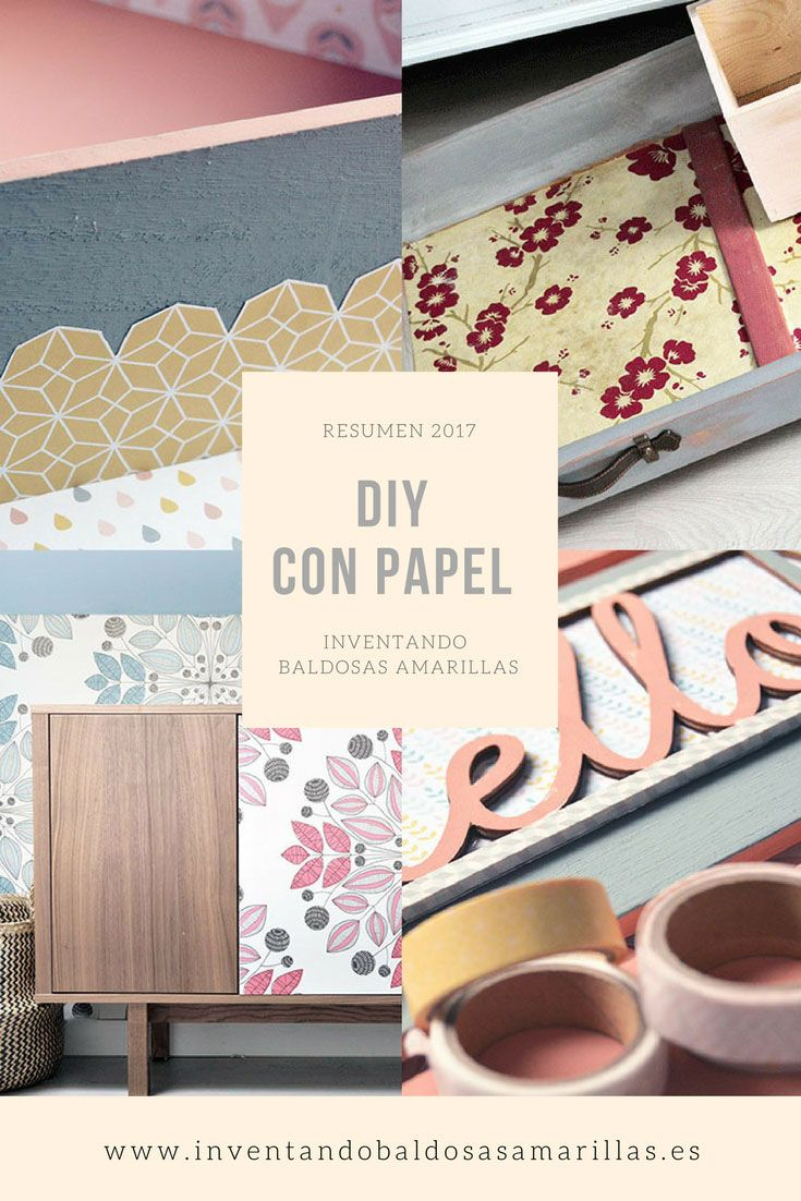 Resumen proyectos handmade 2017: DIY con papel
