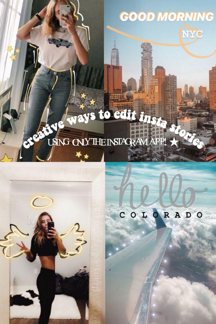 Creative Ways To Edit Insta Stories Youtube Video Instagram Aesthetic Creative Instagram Stories Instagram Story Ideas