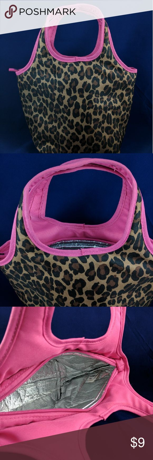 """Old Navy Insulated Bag Leopard Print Adorable insulated bag. Carry your lunch to work in style. Like new condition. Perfectly clean. Smoke free. 14"""" from base to top of handle. 12"""" across.5"""" deep. BC1 Old Navy Bags Totes"""