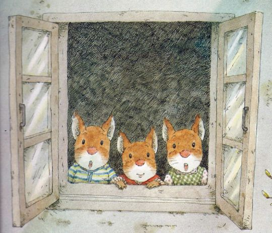 """An Illustrated Story/by Kazuo Iwamura - from the book """"もう はるですね"""""""