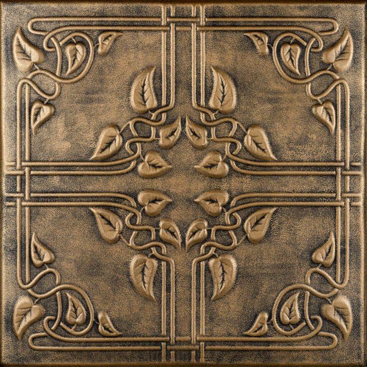 """Ivy Leaves - Styrofoam Ceiling Tile - 20""""x20"""" - #R 37"""