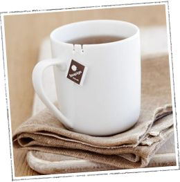 Our tie tea mug - with a snazzy little hook for your tea bag tag! http://www.teapigs.co.uk/teaware/cups_mugs/tie_tea_mug.htm