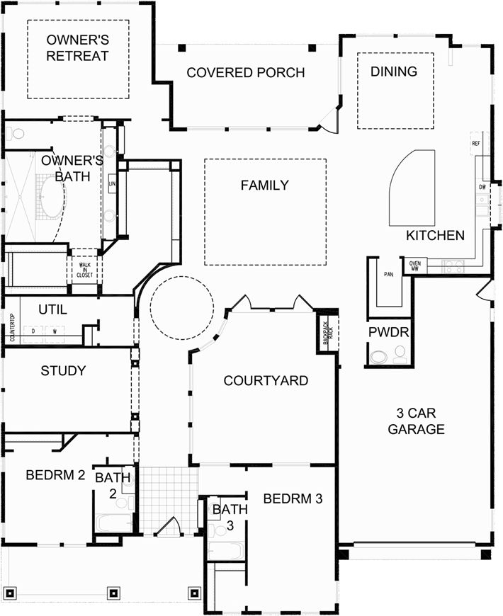 Fruition Floor Plan - David Weekly Homes by TW Lewis